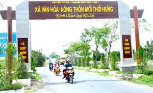 Cờ Đỏ về đích huyện nông thôn mới