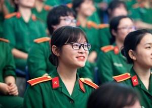 Năm nay, điểm trúng tuyển vào các trường Quân đội tăng cao