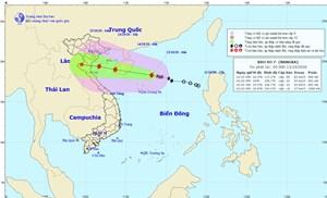 Bão số 7 gió giật cấp 11, cách quần đảo Hoàng Sa 170 km