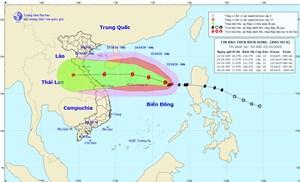 Bão số 8 gió giật cấp 13, cách quần đảo Hoàng Sa 470 km