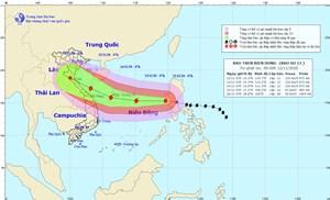 Sáng nay, bão số 13 đã vào Biển Đông
