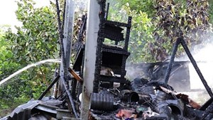 Đồng Tháp: Một người tử vong trong vụ cháy nhà sàn