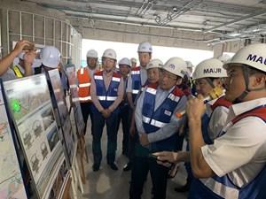 Kiểm tra tiến độ tuyến metro Bến Thành - Suối Tiên