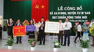 Đắk Lắk: Công bố xã Ea H'đing đạt chuẩn nông thôn mới 2019