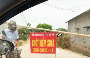Thái Bình phong tỏa một thôn có người nhiễm Covid-19