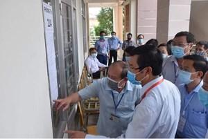 Bộ GDĐT kiểm tra công tác thi tốt nghiệp THPT ở Long An
