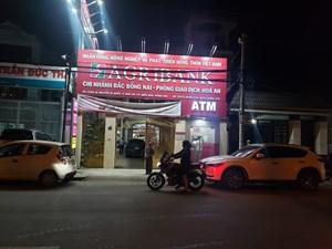 Truy bắt đối tượng cướp ngân hàng Agribank ở Đồng Nai
