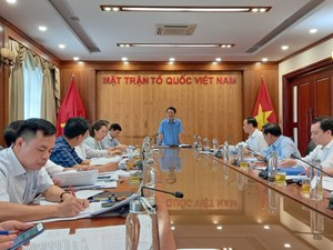Chuẩn bị cho Đại hội Thi đua yêu nước của MTTQ Việt Nam