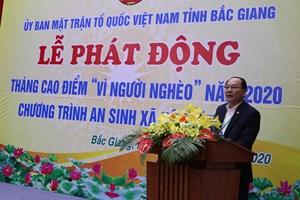 Bắc Giang: Phát động Tháng cao điểm 'Vì người nghèo'
