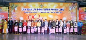 Quảng Ninh: 300 công nhân dệt may tham gia chương trình 'Tết sum vầy'
