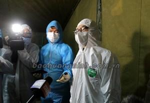 Phó Thủ tướng Chính phủ Vũ Đức Đam kiểm tra công tác phòng, chống dịch tại Quảng Ninh