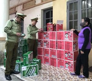 Lạng Sơn: Thu giữ số lượng lớn bia và sữa nhập lậu