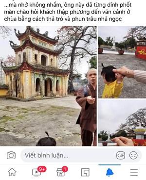 Hải Phòng: Nhà sư đập nhang đang cháy vào tay Phật tử