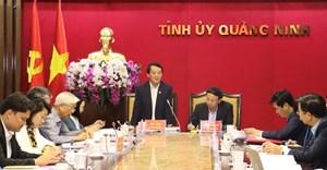 Công tác bầu cử của tỉnh Quảng Ninh phải đảm bảo dân chủ, công khai và hướng tới người dân