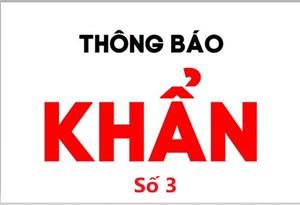 Quảng Ninh: Thông báo khẩn số 3 của Ban chỉ đạo phòng, chống dịch
