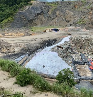 Quảng Ninh: Công ty INDEVCO thông báo ngừng cho mượn đường vào đổ rác