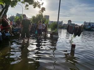 Hải Phòng: Tìm kiếm 2 cháu gái mất tích tại hồ Tiên Nga