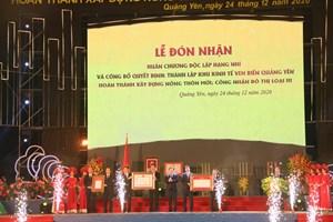 Quảng Ninh: Công bố thành lập Khu kinh tế ven biển Quảng Yên