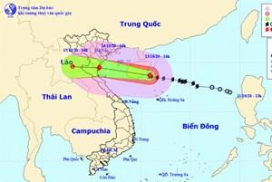 Bão số 7 gây mưa rất to cho khu vực Bắc Bộ và bắc Trung Bộ