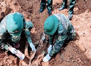 Tìm thấy nhiều hài cốt liệt sĩ Việt Nam tại Lào