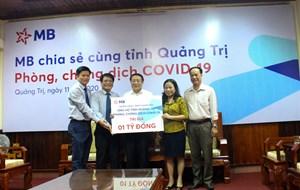 Quảng Trị: Ngân hàng TMCP Quân đội ủng hộ 1 tỷ đồng phòng, chống dịch