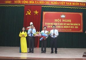 Bí thư Huyện ủy Cam Lộ giữ chức Chủ tịch Ủy ban MTTQ Việt Nam tỉnh Quảng Trị