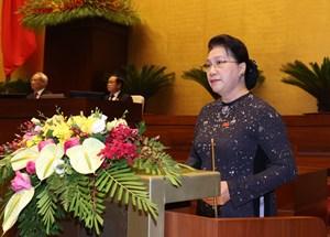 Chủ tịch Quốc hội Nguyễn Thị Kim Ngân lần đầu tiên trả lời chất vấn
