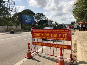 Quảng Ngãi: Xét nghiệm tất cả hành khách trên xe có ghé TP Chí Linh