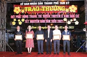 Quảng Nam: Trao thưởng trang trí, tuyên truyền các tuyến đường đón Tết