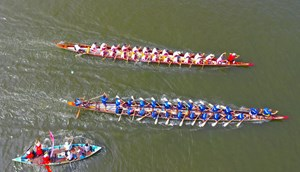 Quảng Nam: Hấp dẫn giải đua thuyền trên sông Tam Kỳ