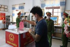 Quảng Nam: 324 người bị tạm giữ, tạm giam tham gia bầu cử