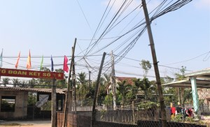 Điện lực Quảng Nam phản hồi vụ 'mạng nhện dây điện, dây cáp quang'