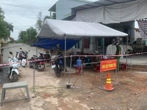 Sơn Tịnh (Quảng Ngãi): Mặt trận tặng lều bạt cho các chốt trực chống dịch Covid-19