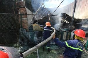 Quảng Nam: Cháy lớn ở cơ sở thu mua, chế biển thủy sản