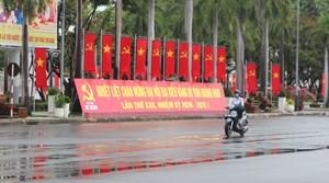 Tam Kỳ: Rực rỡ cờ, hoa chào mừng Đại hội Đảng bộ tỉnh Quảng Nam