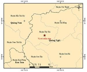 Quảng Ngãi liên tiếp xảy ra 2 trận động đất