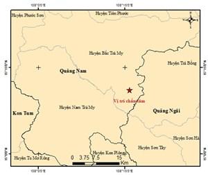 Quảng Nam: Một trận động đất 3.0 Richter ở huyện Bắc Trà My