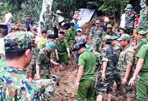 Thứ trưởng Bộ Công an yêu cầu tiếp tục tìm kiếm nạn nhân mất tích ở Trà Leng
