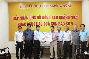Long An và An Giang ủng hộ người dân Quảng Ngãi 1,5 tỷ đồng
