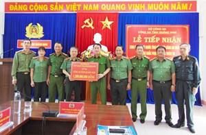 Bộ Công an hỗ trợ kinh phí cho Quảng Nam khắc phục hậu quả thiên tai