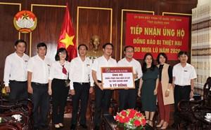 Agribank ủng hộ 5 tỷ đồng cho người dân vùng lũ Quảng Nam