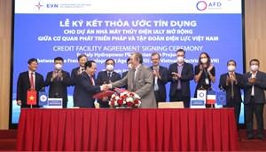 Ký kết thỏa thuận tín dụng trị giá 74,7 triệu Euro cho Dự án nhà máy Thủy điện Ialy mở rộng