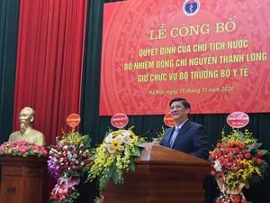 Thủ tướng giao 10 nhiệm vụ cho tân Bộ trưởng Bộ Y tế