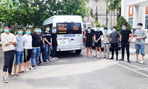 An Giang: Bắt giữ 34 đối tượng người Trung Quốc nhập cảnh trái phép