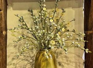 Mẹ đảm Hà Thành dùng hoa 'lạ' cắm bình tân trang cửa nhà