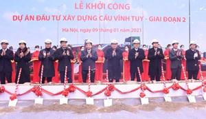 Hà Nội khởi công xây dựng cầu Vĩnh Tuy giai đoạn 2