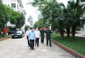 Hà Nội: Phó Chủ tịch Chử Xuân Dũng kiểm tra công tác chuẩn bị khu cách ly tập trung