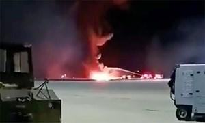 Tiêm kích F-16 Mỹ rơi trong lúc bay huấn luyện