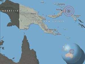 New Guinea: Động đất mạnh 7 độ Richter, không có cảnh báo sóng thần