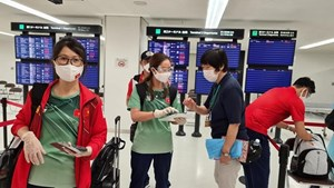 Đoàn TTVNđã đặt chân tới Nhật Bản tham dự Olympic Tokyo 2020